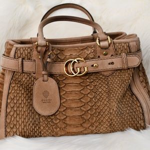 GUCCI Python Large Running Tote